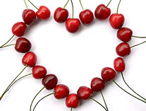 heart cherries valentines blog