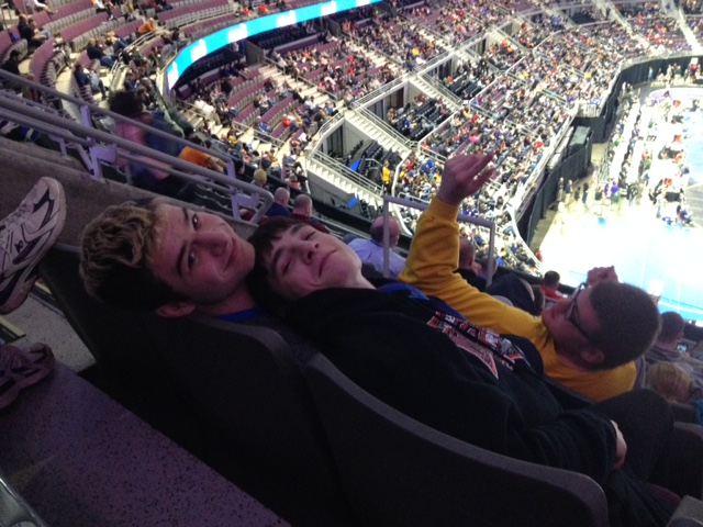 wrestling Patrick and Jer